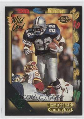 1991 Wild Card - [Base] - 10 Stripe #46 - Emmitt Smith