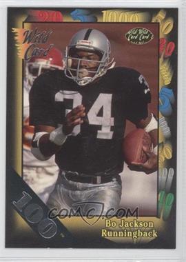 1991 Wild Card - [Base] - 100 Stripe #108 - Bo Jackson