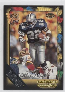 1991 Wild Card - [Base] - 100 Stripe #46 - Emmitt Smith