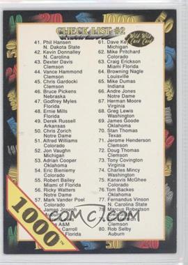 1991 Wild Card - [Base] - 1000 Stripe #158 - Checklist #2