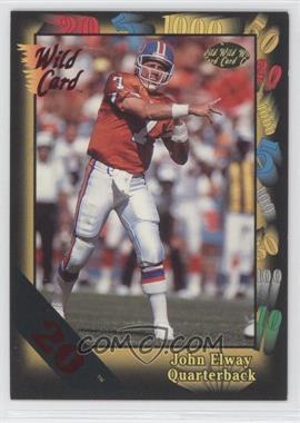 1991 Wild Card - [Base] - 20 Stripe #4 - John Elway