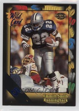 1991 Wild Card - [Base] - 5 Stripe #46 - Emmitt Smith