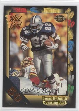 1991 Wild Card - [Base] - 50 Stripe #46 - Emmitt Smith