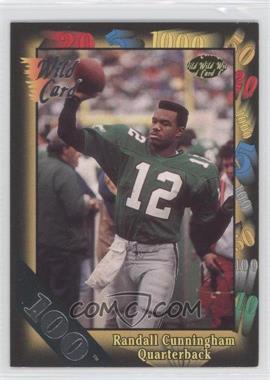 1991 Wild Card 100 Stripe #61 - Randall Cunningham