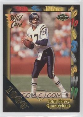 1991 Wild Card 1000 Stripe #92 - John Friesz