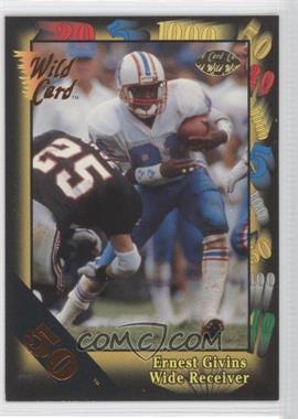 1991 Wild Card Bronze 50 #19 - Ernest Givins