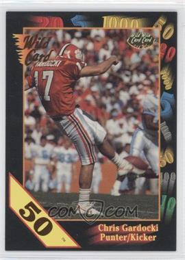 1991 Wild Card Draft - [Base] - 50 Stripe #45 - Chris Gardocki