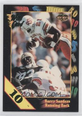 1991 Wild Card Draft 10 Stripe #106 - Barry Sanders