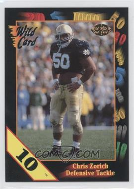 1991 Wild Card Draft 10 Stripe #50 - Chris Zorich