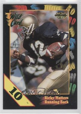 1991 Wild Card Draft 10 Stripe #56 - Ricky Watters