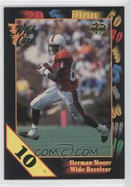 1991 Wild Card Draft 10 Stripe #67 - Herman Moore