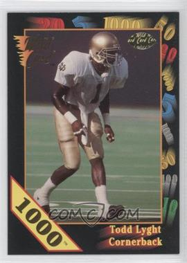 1991 Wild Card Draft 1000 Stripe #1 - Todd Lyght