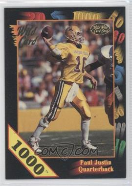 1991 Wild Card Draft 1000 Stripe #84 - Paul Justin