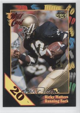 1991 Wild Card Draft 20 Stripe #56 - Ricky Watters