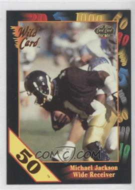 1991 Wild Card Draft 50 Stripe #10 - Michael Jackson