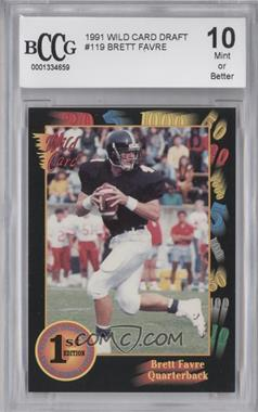 1991 Wild Card Draft #119 - Brett Favre [ENCASED]