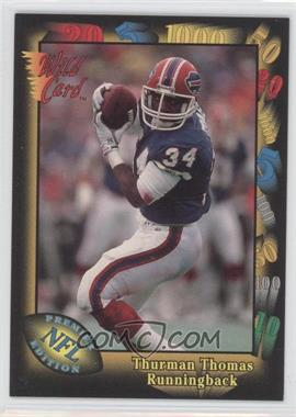 1991 Wild Card Prototypes #Prototype-3 - Thurman Thomas