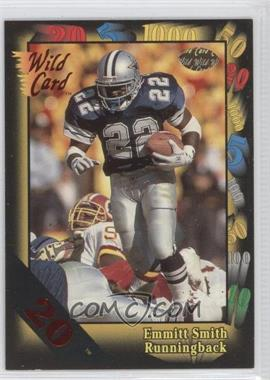 1991 Wild Card Red 20 #46 - Emmitt Smith