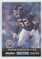 Pepper Johnson, Steve Wisniewski