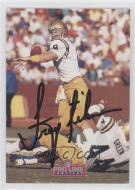 1992 Pro Line Profiles - [Base] - Autographs #TRAI.3 - Troy Aikman