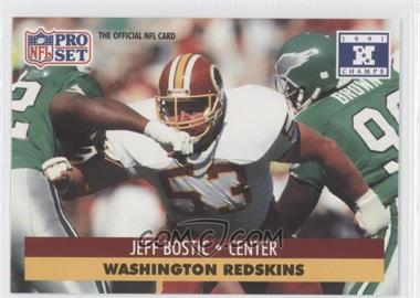 1992 Pro Set NFL Experience - [Base] #53 - Jeff Bostic