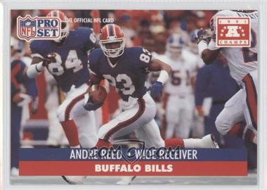 1992 Pro Set NFL Experience - [Base] #81 - Andre Reed