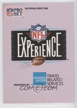 1992 Pro Set NFL Experience [???] #1 - [Missing]