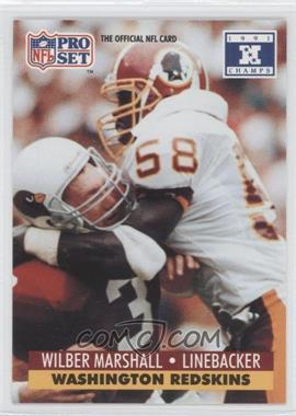 1992 Pro Set NFL Experience [???] #681 - Wilber Marshall
