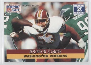 1992 Pro Set NFL Experience #53 - Jeff Bostic