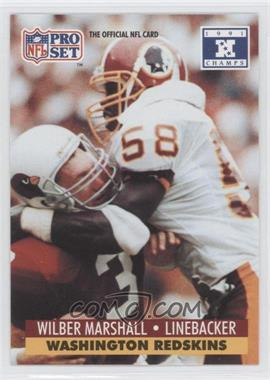 1992 Pro Set NFL Experience #681 - Wilber Marshall