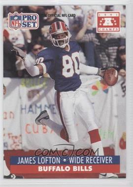 1992 Pro Set NFL Experience #80 - James Lofton