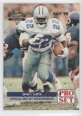 1992 Pro Set National Convention Promos #PRO002 - Emmitt Smith