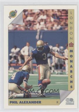 1992 Ultimate World League of American Football #73 - Philip Alexander