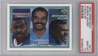 Thurman Thomas, Warren Moon, Michael Irvin [PSA 10]