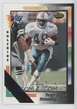 1992 Wild Card 5 Stripe #329 - Tony Paige