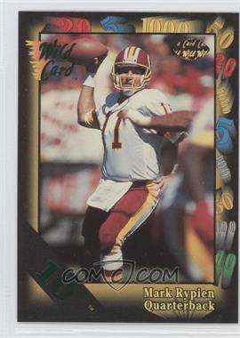 1992 Wild Card Super Bowl Card Show III - [Base] - 10 Stripe #126 A - Mark Rypien