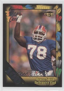 1992 Wild Card Super Bowl Card Show III - [Base] - 100 Stripe #126 G - Bruce Smith