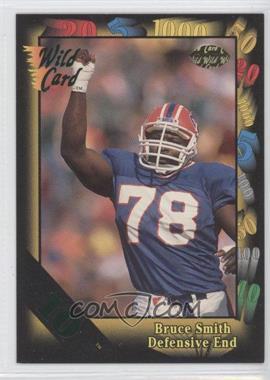 1992 Wild Card Super Bowl Card Show III 10 Stripe #126 - Bruce Smith