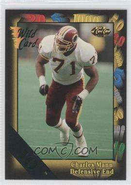 1992 Wild Card Super Bowl Card Show III 10 Stripe #43 - Charles Mann