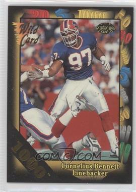 1992 Wild Card Super Bowl Card Show III 1000 Stripe #126 - Cornelius Bennett
