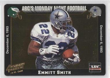 1993 Action Packed Monday Night Football 24 Kt. Gold #5G - Emmitt Smith