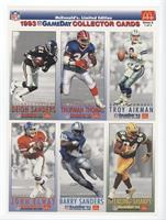 Deion Sanders, Thurman Thomas, Troy Aikman, John Elway, Barry Sanders, Sterling…