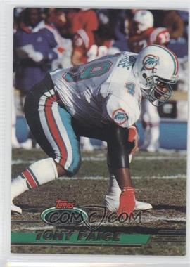 1993 Topps Stadium Club Super Teams Redeemed Super Bowl XXVIII #158 - Tony Paige