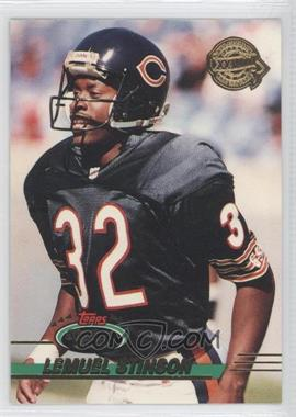 1993 Topps Stadium Club Super Teams Redeemed Super Bowl XXVIII #367 - Lemuel Stinson