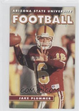 1995 Arizona State Sun Devils Schedule Cards #N/A - Jake Plummer