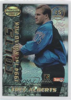1995 Bowman's Best - Mirror Image Draft Picks - Refractor #5 - Trev Alberts, Kerry Collins