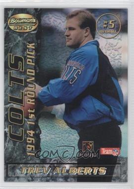 1995 Bowman's Best Mirror Image Draft Picks Refractor #5 - Trev Alberts, Kerry Collins