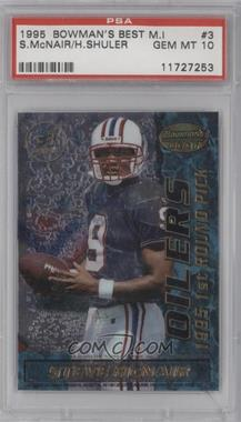 1995 Bowman's Best Mirror Image Draft Picks #3 - Heath Shuler, Steve McNair [PSA 10]
