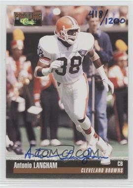 1995 Classic Pro Line Autographs #N/A - Antonio Langham /1200