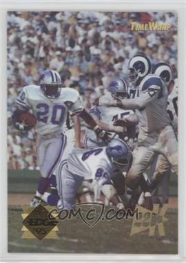 1995 Collector's Edge - Time Warp - 22K Gold #5 - Barry Sanders, Deacon Jones
